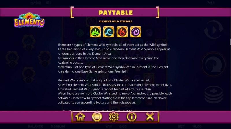 Elemento :: Wild Symbol Rules
