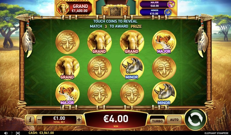 Elephant Stampede :: Jackpot Pick Feature