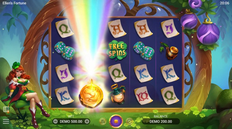 Ellen's Fortune :: Coins can randomly appear on the reels during any spin