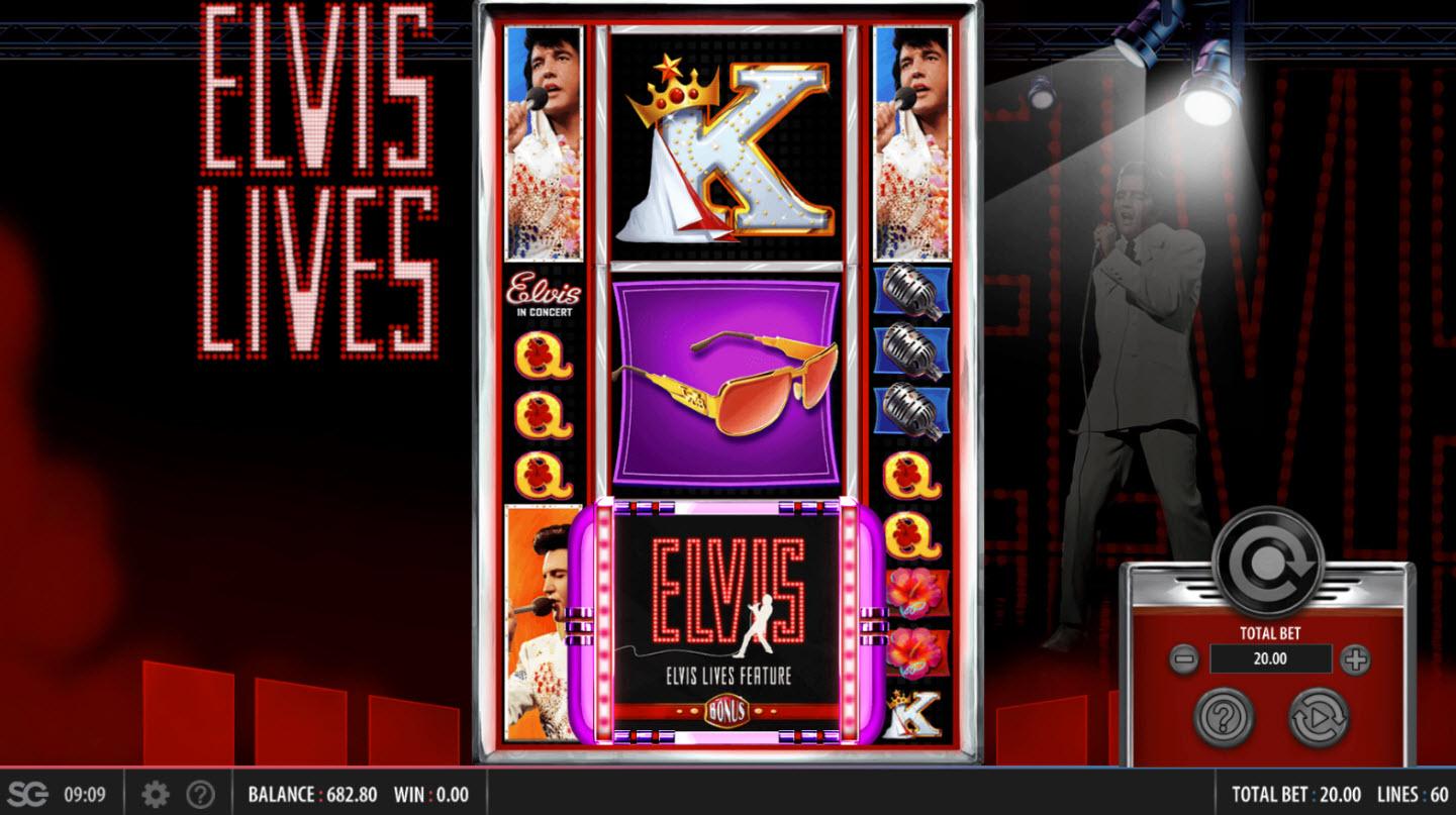 Elvis Lives :: Scatter win triggers the bonus feature