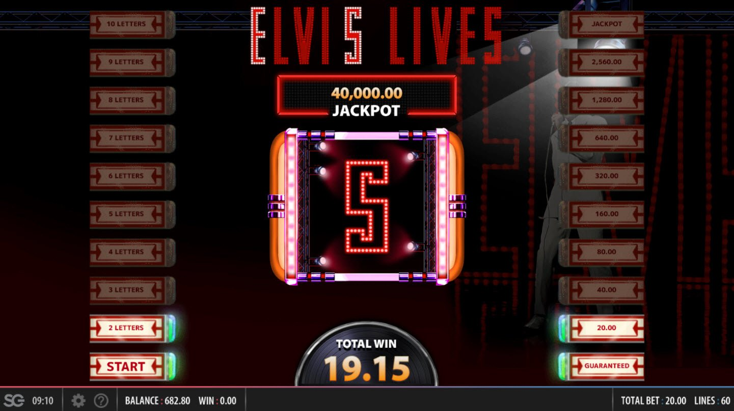 Elvis Lives :: Collect letters and win more prizes