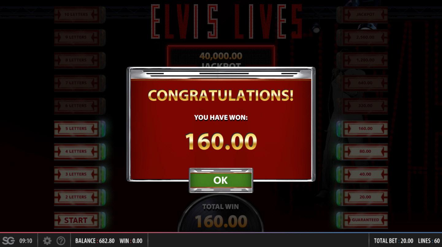 Elvis Lives :: Total Bonus Payout