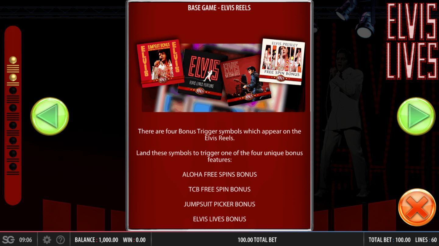 Elvis Lives :: Bonus Game Rules