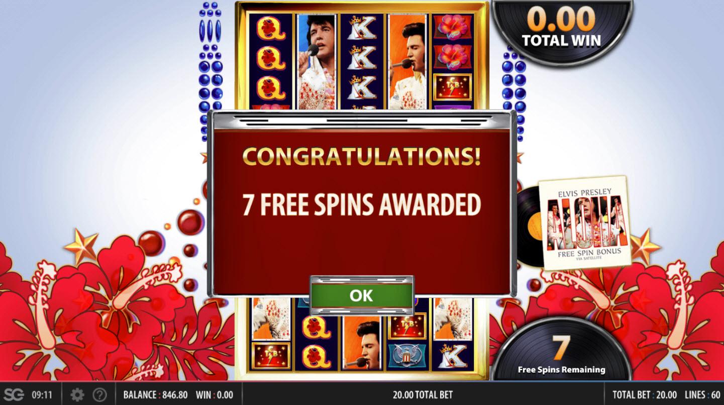 Elvis Lives :: 7 Free Games Awarded
