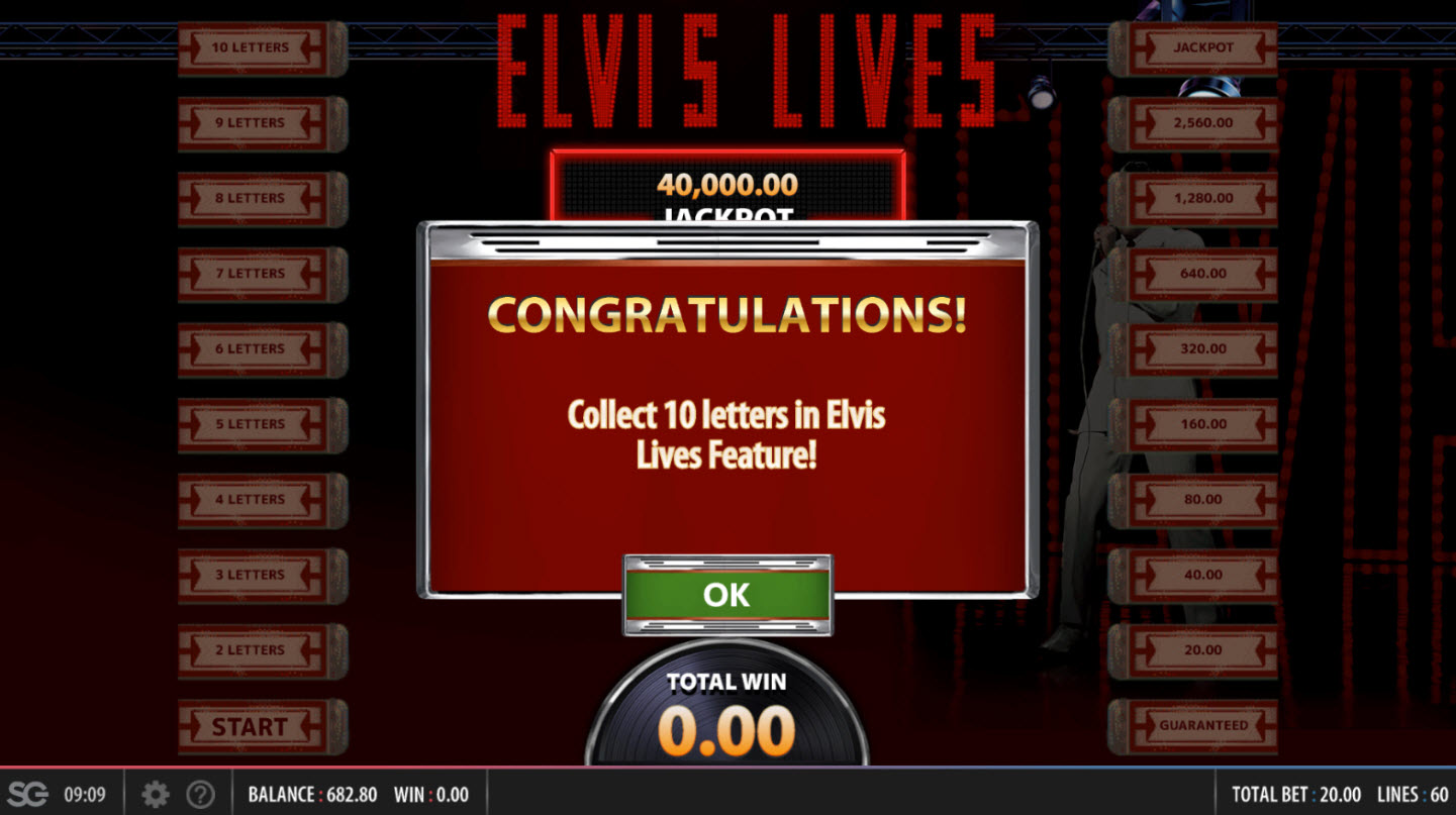 Elvis Lives :: Collect 10 Letters