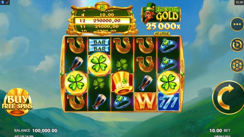 Emerald Gold :: Main Game Board