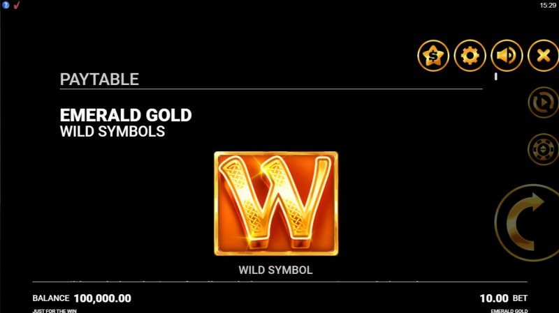 Emerald Gold :: Wild Symbol Rules