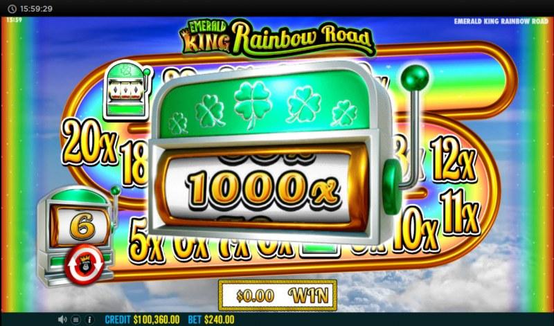 Emerald King Rainbow Road :: Spin the bonus reel