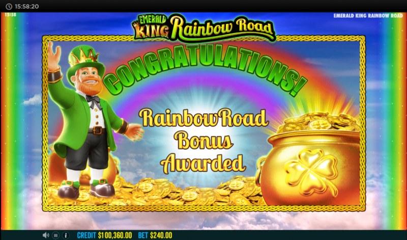 Emerald King Rainbow Road :: Rainbow Road Bonus