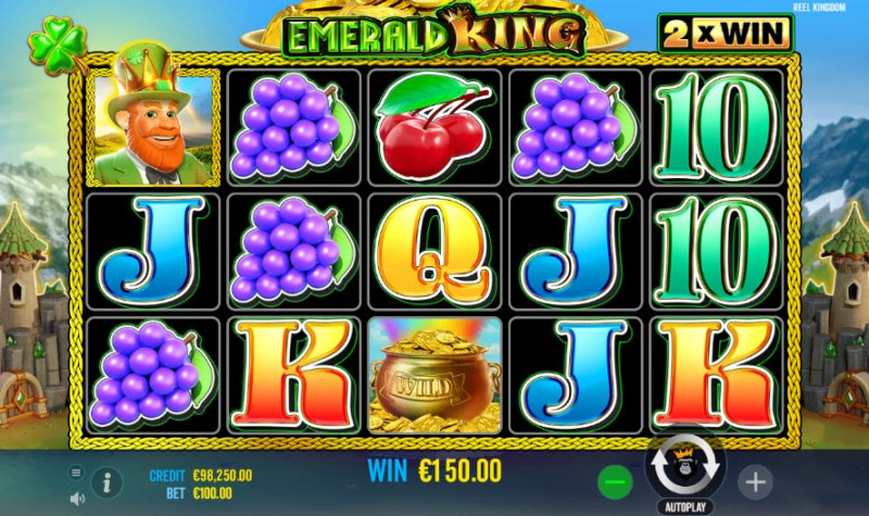 Emerald King :: Four of a kind Win