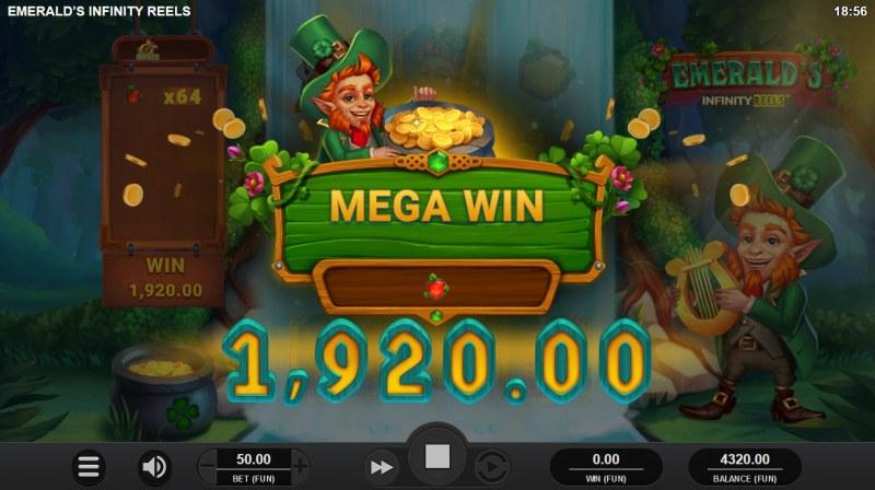 Emerald's Infinity Reels :: Mega Win