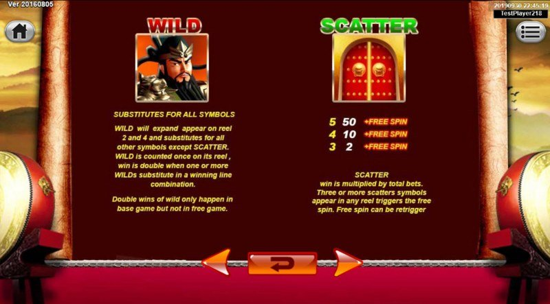 Emperor Gate :: Wild and Scatter Rules