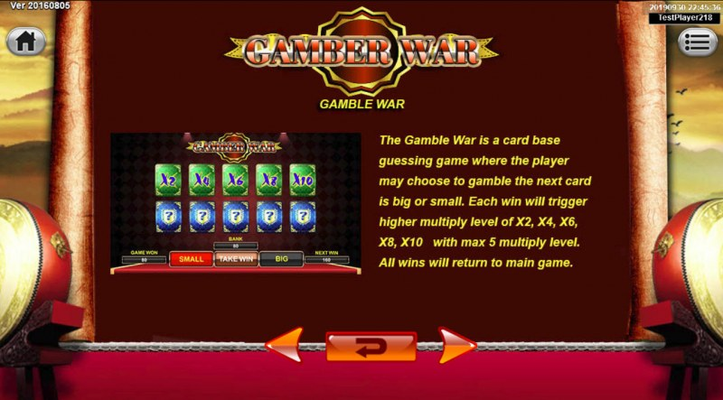 Emperor Gate :: Gamble Feature Rules