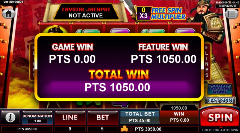 Emperor Gate :: Total free spins payout