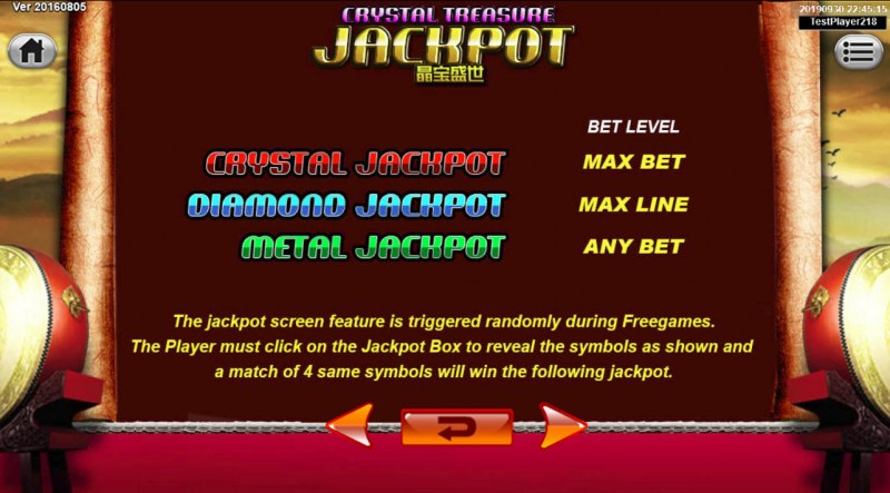 Emperor Gate :: Jackpot Rules