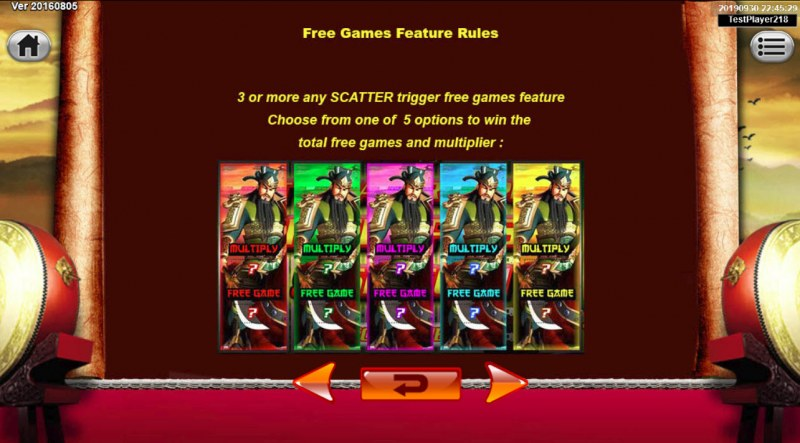 Emperor Gate :: Free Spins Rules