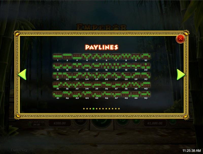 Emperor Panda :: Paylines 1-50
