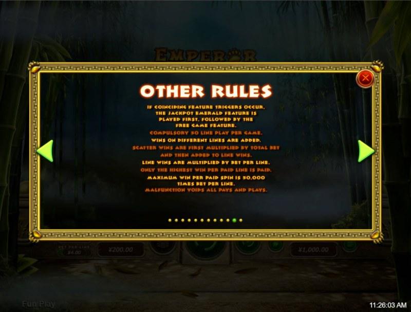 Emperor Panda :: General Game Rules