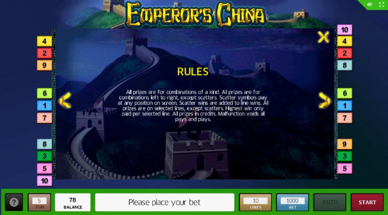 Emperor's China :: General Game Rules