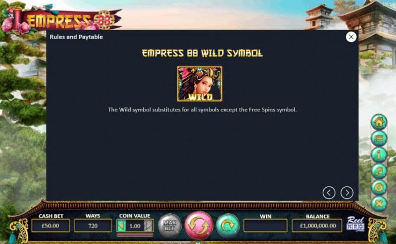 Empress 88 :: Wild Symbols Rules
