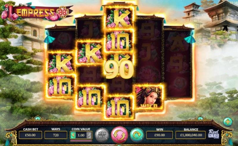 Empress 88 :: Multiple winning combinations