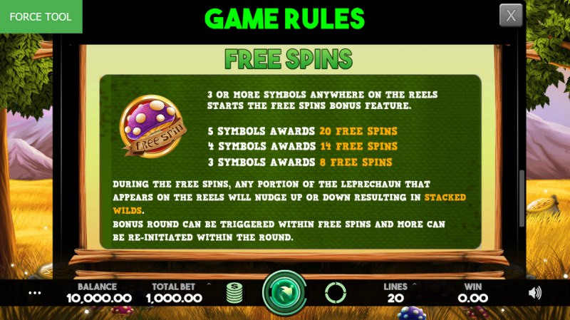 Enchanted Cash :: Free Spins Rules