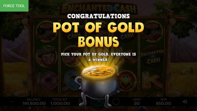 Enchanted Cash :: Pot of Gold Bonus