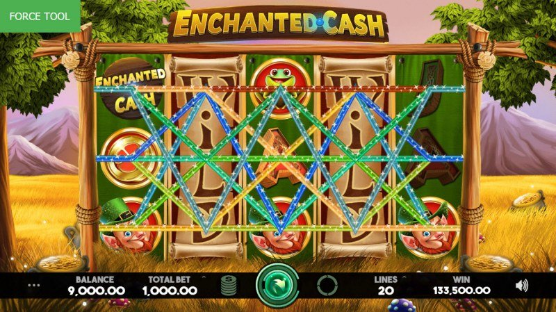 Enchanted Cash :: Multiple winning combinations leads to a big win
