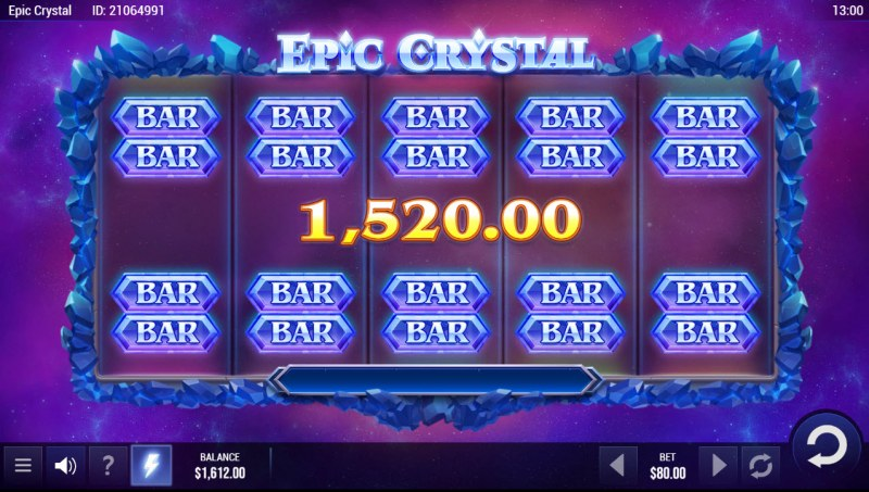 Epic Crystal :: A five of a kind win
