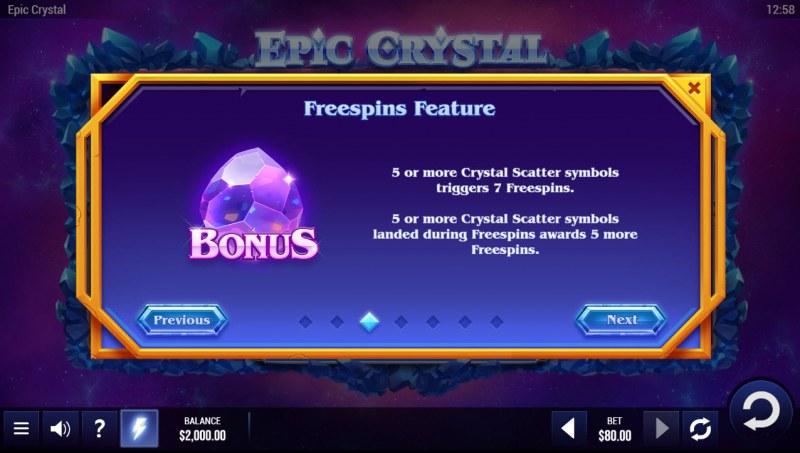Epic Crystal :: Scatter Symbol Rules