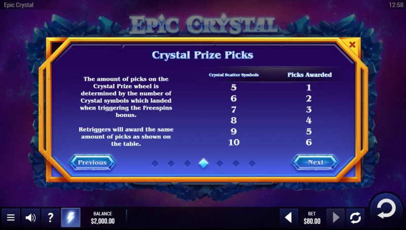 Epic Crystal :: Feature Rules