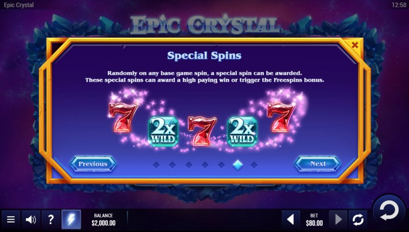 Epic Crystal :: Special Spins