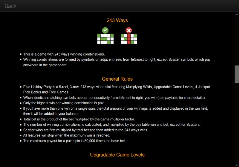 Epic Holiday Party :: General Game Rules