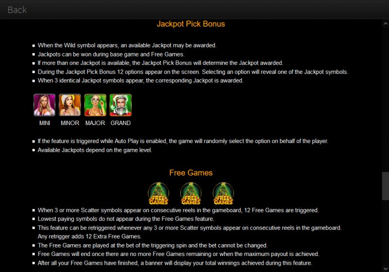 Epic Holiday Party :: Jackpot Rules