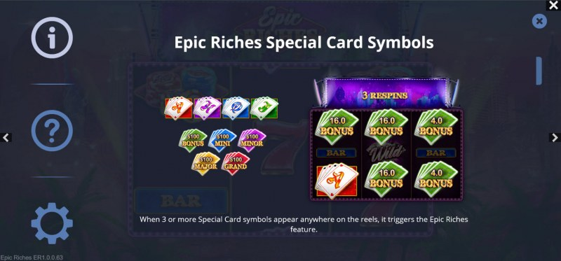 Epic Riches :: Special Card Symbols