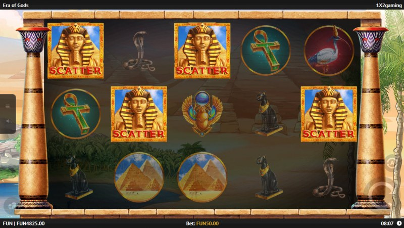 Era of Gods :: Scatter symbols triggers the free spins feature