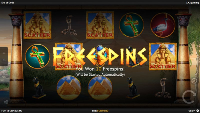 Play slots at Spinrider: Spinrider featuring the Video Slots Era of Gods with a maximum payout of $75,000