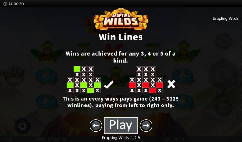 Erupting Wilds :: 3125 Ways to Win