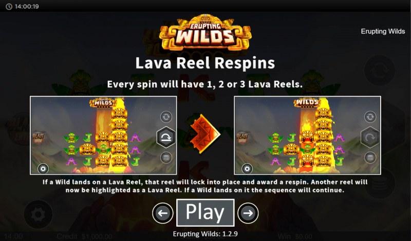 Erupting Wilds :: Lava Reel Respins