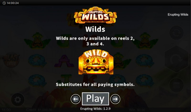 Erupting Wilds :: Wild Symbol Rules