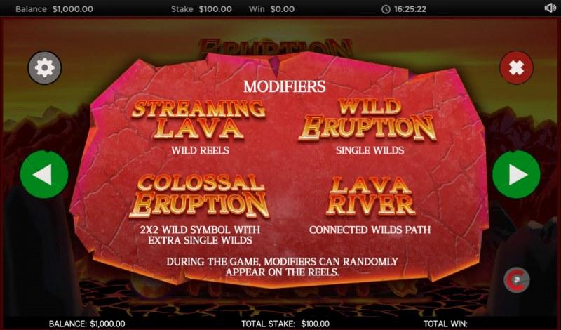 Eruption :: Reel Modifiers