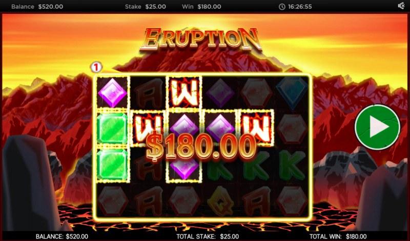 Eruption :: Multiple winning paylines