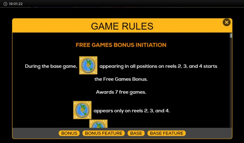 Escape Reset Recharge :: Free Spin Feature Rules