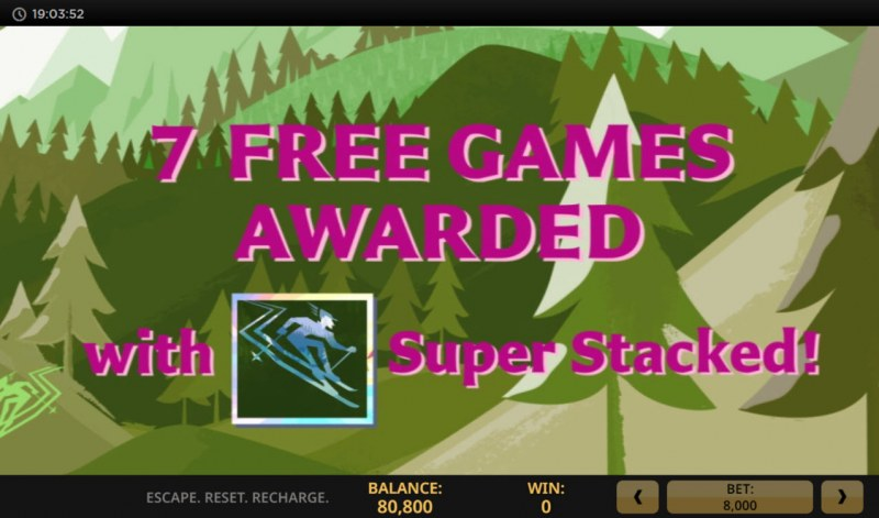 Escape Reset Recharge :: 7 free spins awarded