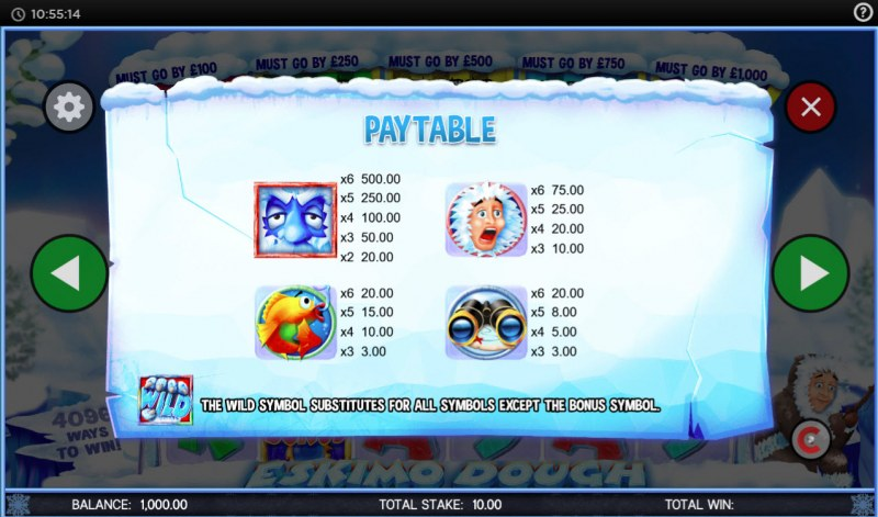 Eskimo Dough :: Paytable - High Value Symbols