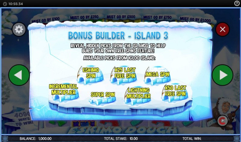 Eskimo Dough :: Bonus Builder - Island 3