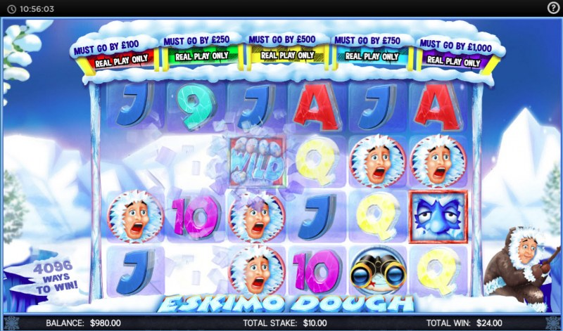 Eskimo Dough :: Winning symbols are removed from the reels and new symbols drop in place