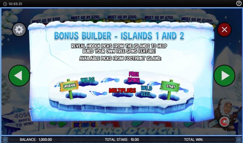 Eskimo Dough :: Bonus Builder - Islands 1 and 2