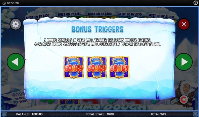 Eskimo Dough :: Bonus Triggers