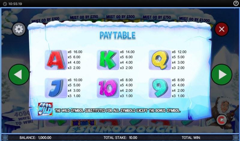 Eskimo Dough :: Paytable - Low Value Symbols